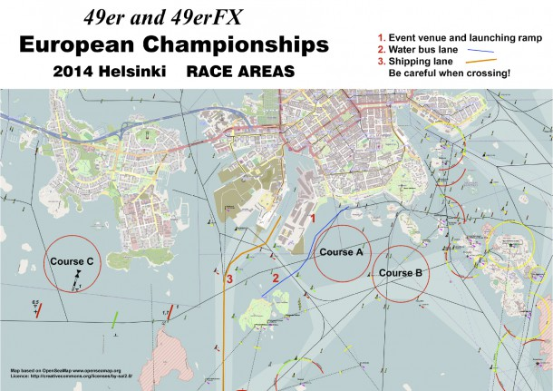 49er Europeans 2014 Race Areas