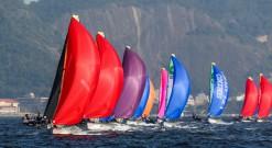 49er sailing in guanabara bay