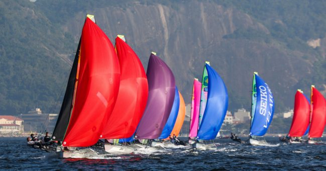 49er sailing in guanabara bay