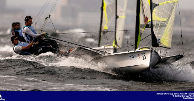 wild ride for 49er sailors in Tokyo